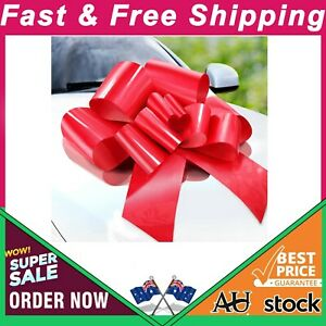 Zoe Deco Big Car Bow (Red, 58 Cm), Gift Bows, Giant Bow for Car, Birthday Bow,