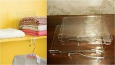 2 Acrylic Shelf Dividers with Extra Loop Closet Organizer