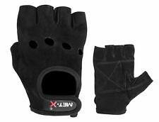 MET-X Ruota Sedia Guanti neri in pelle scamosciata morbida Pelle Peso Training Palestra Bodybuild
