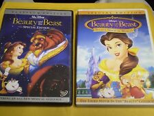 .(2) Disney Beauty and the Beast DVD Lot: Platinum Edition & Belle's Magical