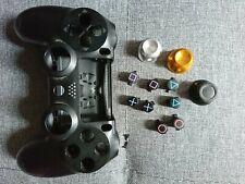Coque Manette PS4 + 8 Bouton + 3 Joystick Gold et Argent Dualshock Custom
