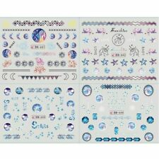 12pcs galaxy Color Nail Decor Sticker Unicorn Geometric Pattern Paster Accessory