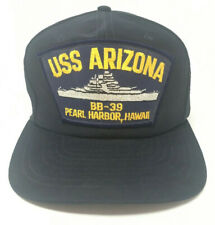 VTG USS Arizona BB-39 Pearl Harbor Hawaii Snapback Hat PATCH