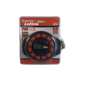 Crescent Lufkin 3/8-in x 100-ft Construction Steel Long Tape