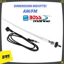 ANTENNA RADIO FM/AM BOSS MARINE MRANT 12W STILO BIANCA NAUTICA PER BARCA TENDER