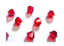 25 Lt Siam Swarovski Crystal Bicone Beads # 5328 Xilion 6MM