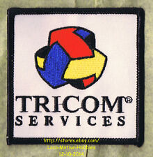 LMH PATCH Badge  TRICOM SERVICES  Red Blue Yellow Arrow Logo  MOTION INDUSTRIES