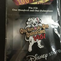 100 Years of Dreams #36 One Hundred One Dalmatians LE Retired Disney Pin 7593