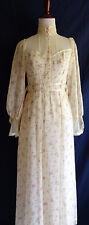 VTG Gunne Sax Romantic Victorian Lace Prairie Boho Hippie Peasant Wedding Dress