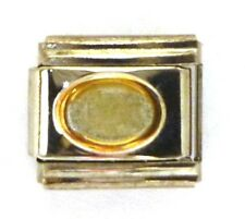 9mm Classic Size Italian Charms Birthstone Oval Tourmaline OCTOBER