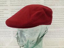 Lacoste Flat Cap piqué de algodón para hombre Sombrero de la boina Burdeos Talla M o L Tapas BNWT R £ 60
