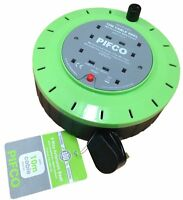Original Pifco 4 way Extension Reel with 10A Thermal Fuse and 10M Cable-PIF2070