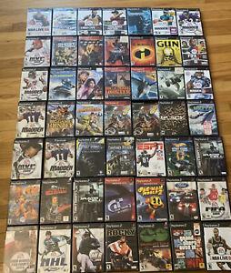 PS2 Playstation 2 Game Lot 50 Games GTA / Final fantasy / GUN Shooters - GREAT