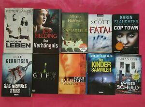 Buchpaket  -  Bücher-Paket  -   10  Thriller, Krimi  -  Top-Zustand