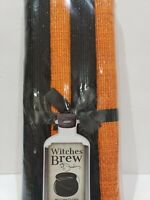 Halloween Black Orange Shimmer Sparkle Fabric Placemats Set of 4  PICK QTY