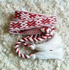 Embroidered Headband Flower Ornament Red Headband Woven Headband Ethnic Headband