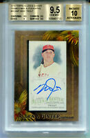 MIKE TROUT 2016 Topps Allen & Ginter Framed Mini Auto Autograph SP AU BGS 9.5 10