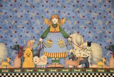 "Tela, patchwork, Quilt, decoración ""Dog Angel"", Debbie Mumm"