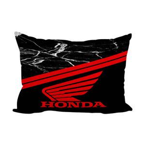"""Honda Logo Black Marble Custom Zippered Pillow Case 16"""" x 24"""" - 2 Side"""