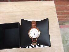DKNY Womens Rose Gold Tone Bracelet Watch