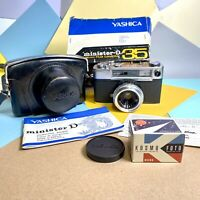 Pristine Boxed Yashica Minister D, 35mm Compact Rangefinder Camera For Collector