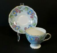 Vintage E.B. Foley Tea Cup & Saucer Set from  England Collectible Bone China