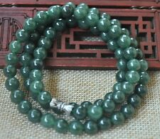 Certified 100%25 Natural A green Emerald Jade Pendant ~ Necklace Have certificate