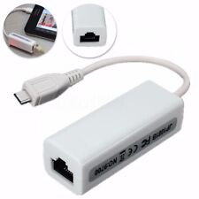 Micro USB 2.0 5p to Rj45 Network LAN Ethernet Adapter Converter Lead for Tablet