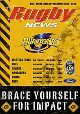 Wellington Hurricanes v Cats 24 Feb 2006  RUGBY PROGRAMME