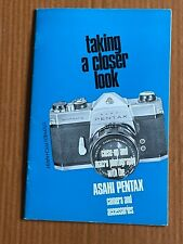 Close up Photography with the Asahi Pentax Cameras, Paper Booklet