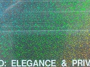 """HOLOGRAPHIC WINDOW TINT FILM 30""""X100' RL you pick your design from two choices"""