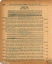 1920 PAPER AD Split Bamboo Fishing Rod Divine Rainbow Six Strip Creek Whipper