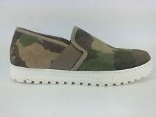 E17-LB6 SCARPE DONNA 41 sneakers SLIP-ON LAURA BELLARIVA MIMETICO (MILITARE)