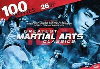GREATEST MARTIAL ARTS CLASSICS DVD RARE OOP 100 MOVIES 25 DISC new, sealed