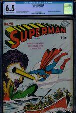 SUPERMAN #20 - CGC-6.5, OW-W