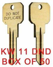 KWIKSET KW11 DND DO NOT DUPLICATE Key Blanks - 50 Keys - 6-PIN KEY