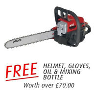 "MTD GCS 46/45C 18"" Petrol Chainsaw - FREE Safety Helmet,Gloves,Oil & Mix Bottle"