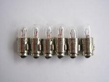6 LAMPADINE MICRO MIGNON  6 VOLT  200 mA MINIATURE LAMP NOS JEAN ROCHET SA