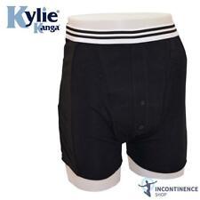 Kylie mâle Incontinence Boxer Shorts-Noir-Large