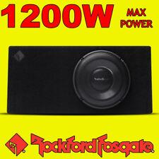"Rockford FOSGATE 12"" pollici di potenza 1200w CAR AUDIO SUBWOOFER SLIM poco profondi BASS BOX"