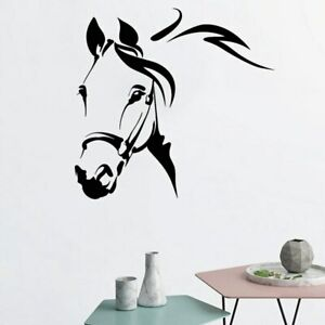 Horse Wall Sticker Steed Vinyl Decal Removable Decoration Animals Head Stickers