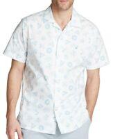 Nautica Mens Casual Shirt Classic White Size 3XL Blue Sail Button Down $49 168