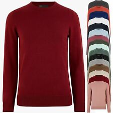 Marks & Spencer Mens Round Neck Jumper M&S Pure Cotton Knitted Sweater Pullover