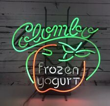 Colombo Frozen Yogurt Neon Light Up SignUltra Rare Works Great! Awesome Color