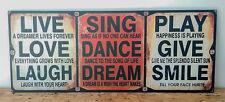 "Fashionable Dynamic Wall Art Sign - ""Live, Sing, Play"",La Vida"
