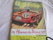 PROGRAMME OFFICIEL DES 24 HEURES DU MANS DE 1961