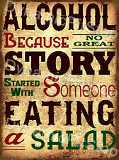 30x40cm Alcohol Funny Quote Rustic Tin Sign