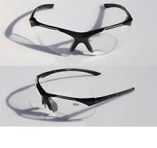 Bifocal Reading Reader Clear Lens Sun-Glasses Half Rim lightweight Shield +2.50