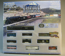 BACHMANN N SCALE EMPIRE BUILDER SANTA FE TRAIN SET steam engine freight 24009