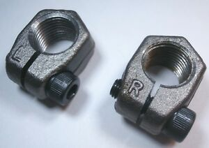 VW Front Spindle Nut Set Left & Right PAIR Axle Clamping Nuts Bug Ghia Super